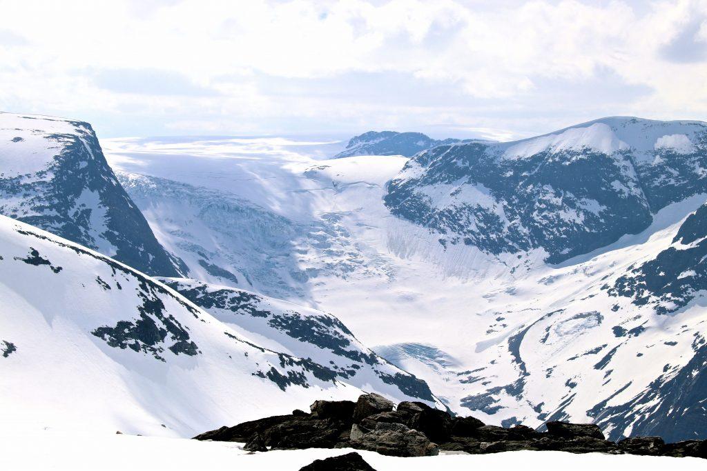 Bødalsbreen, en av Jostedalsbreens mange flotte brearmer.