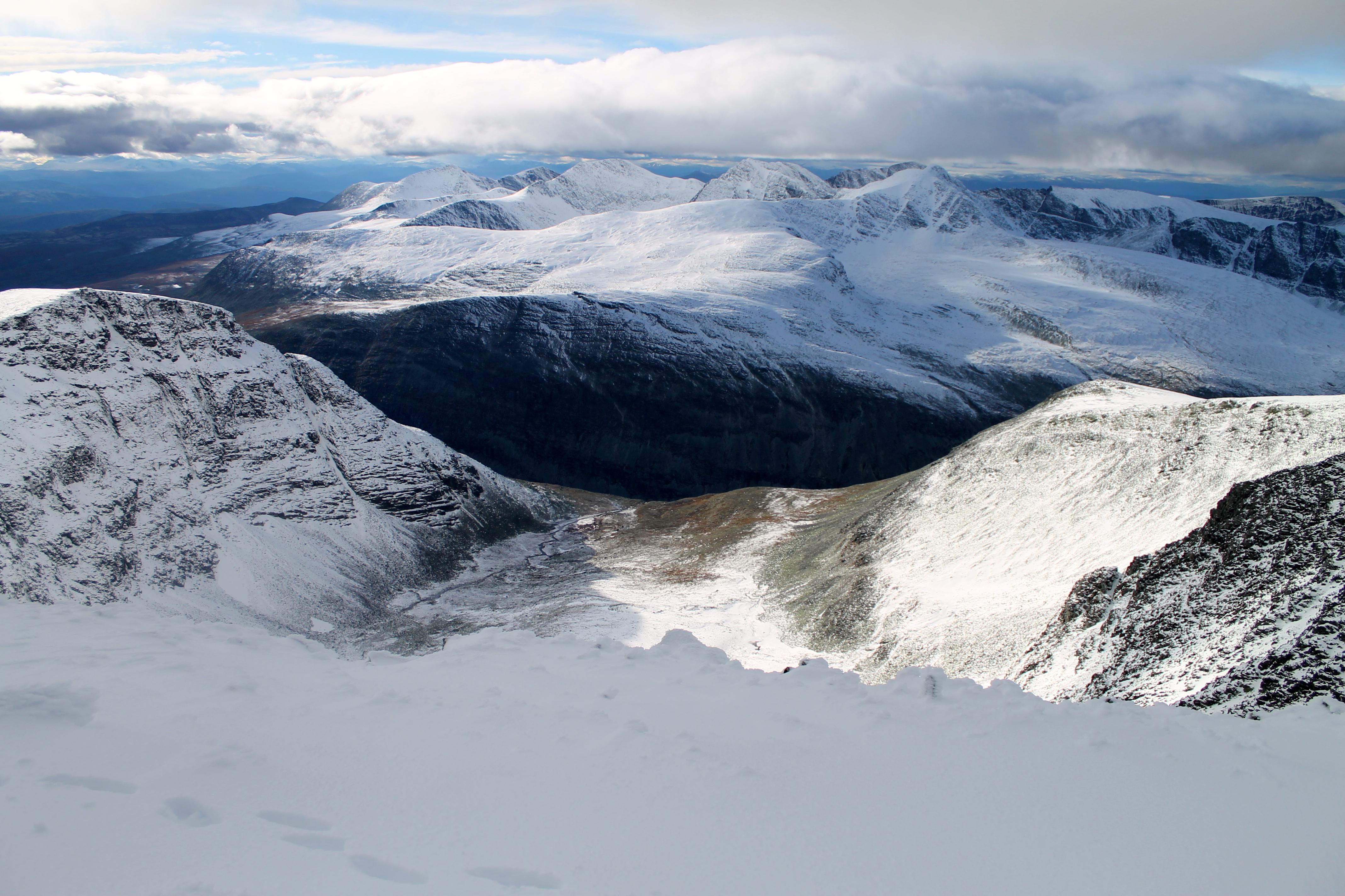 Utsikt mot den vestlige delen av Rondane.