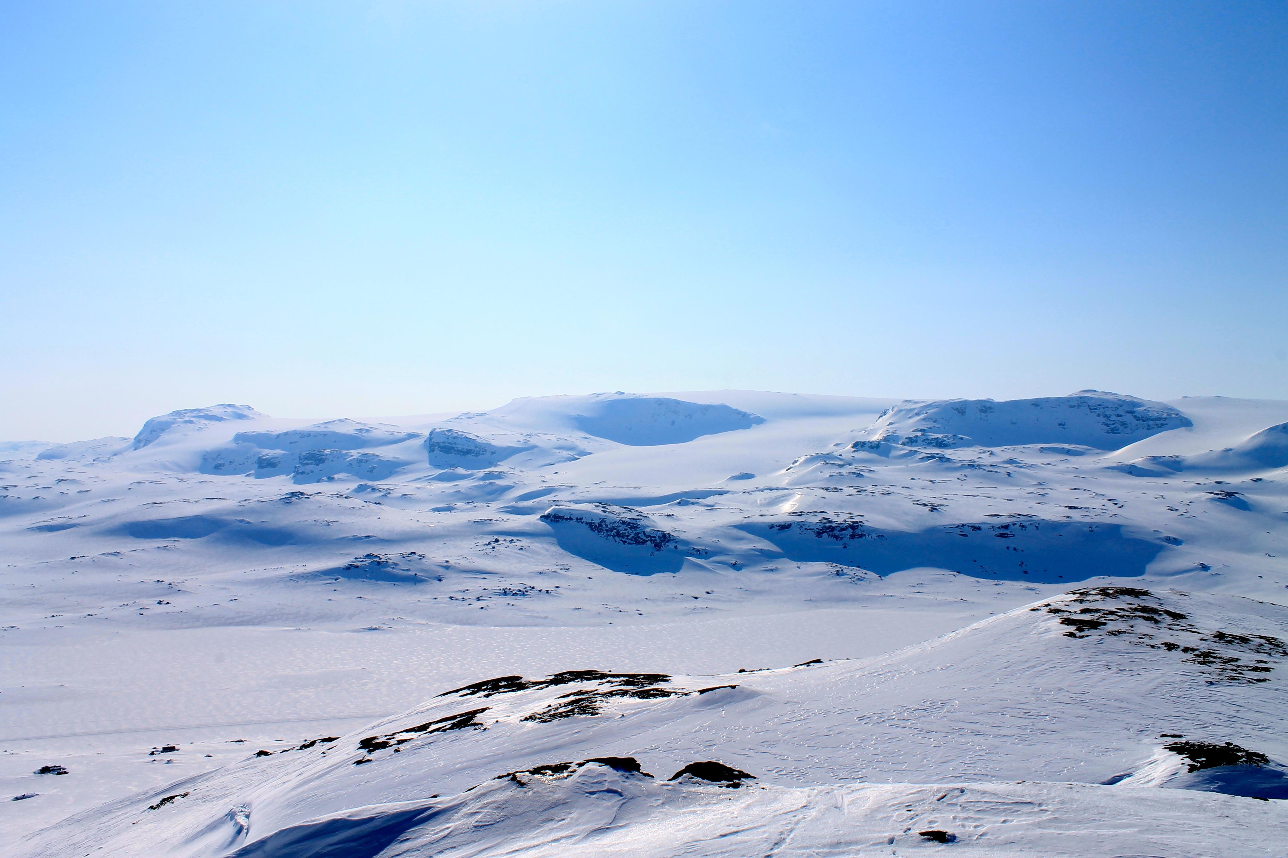 Fin utsikt mot Hardangerjøkulen fra Lille Finsenuten.