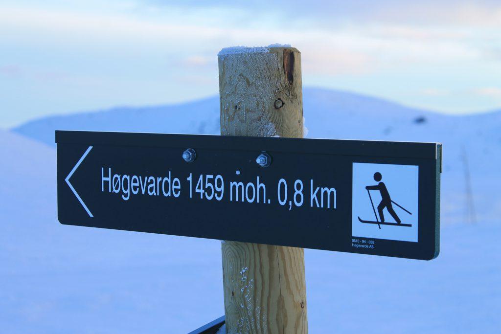 Høgevarde 1.459 moh.