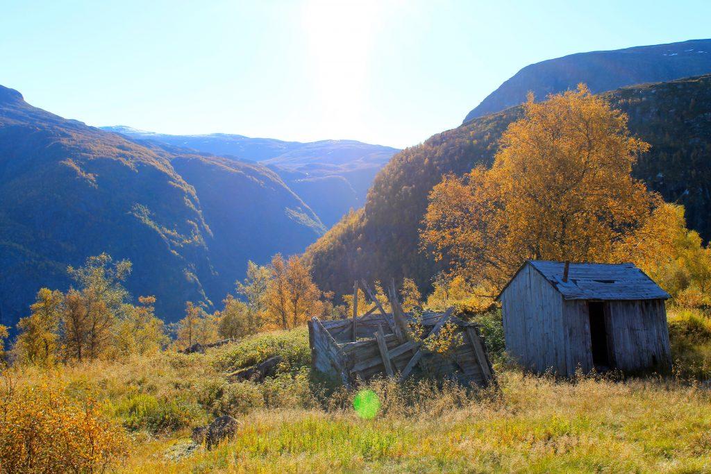 På sti mot Fivlingen i Eidfjord.