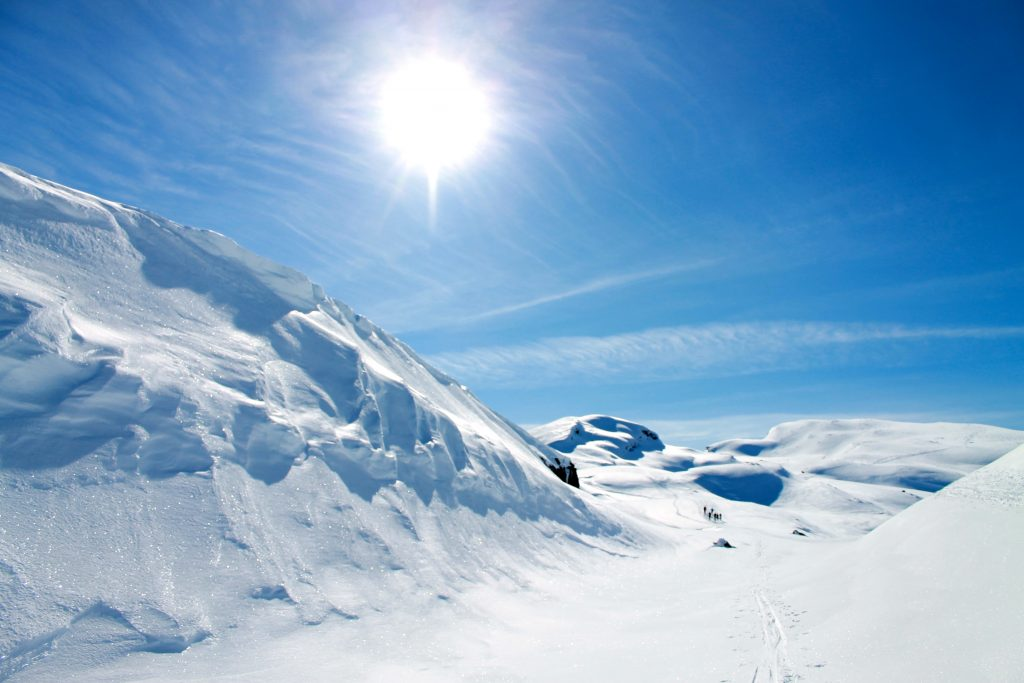 Vakkert fjellandskap på vei mot toppen av Midtfjell.