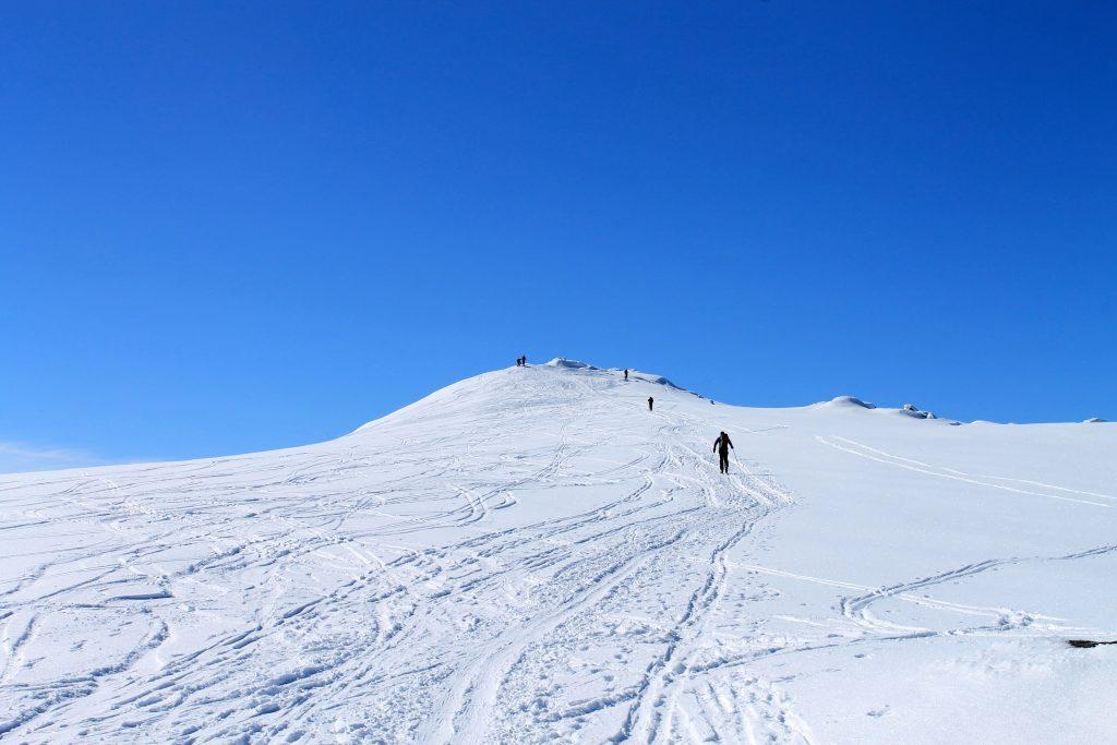 Toppen av Rasletinden, en enkel og kort topptur fra Valdresflye.