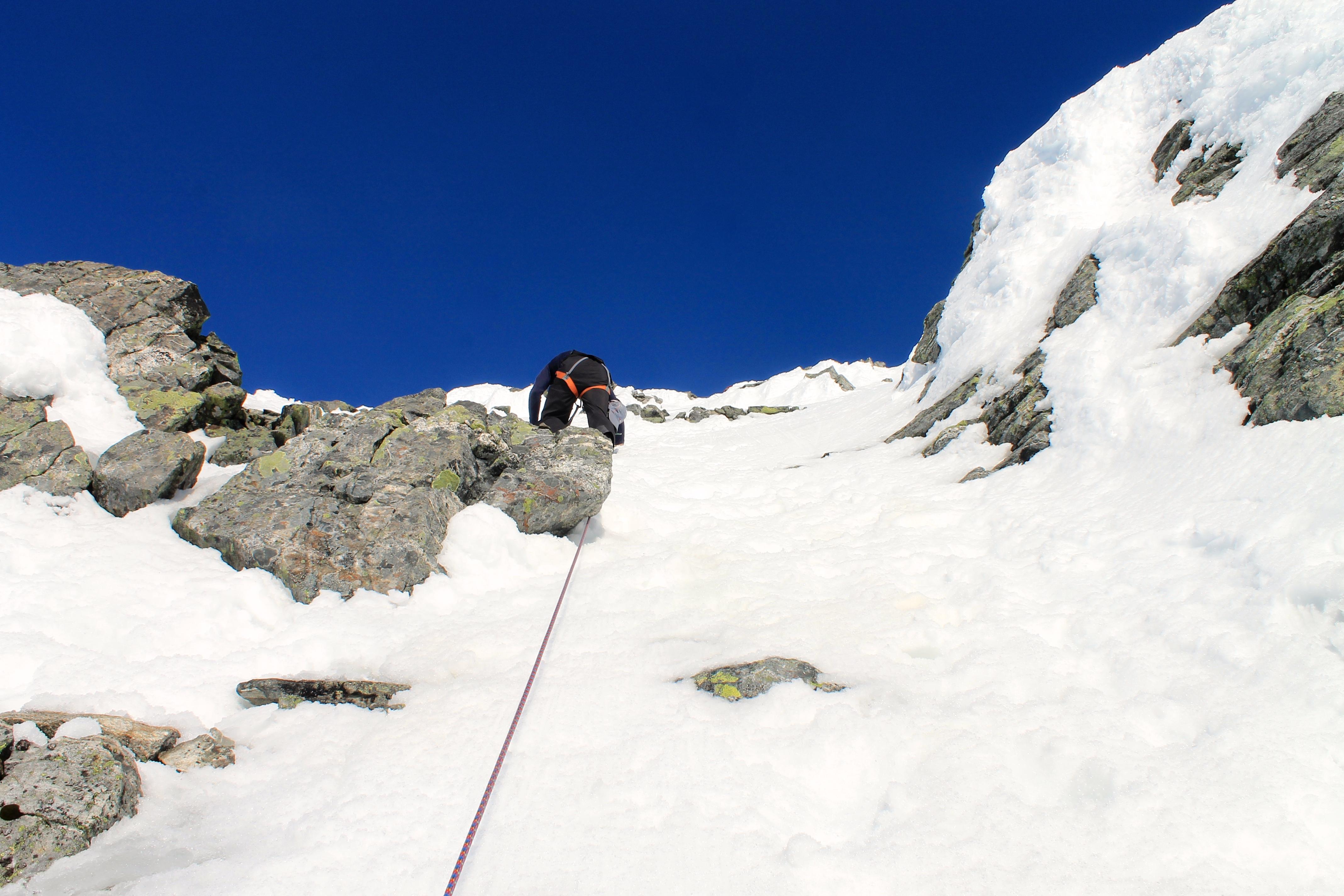 Et litt bratt parti opp mot toppen av Lodalskåpa.