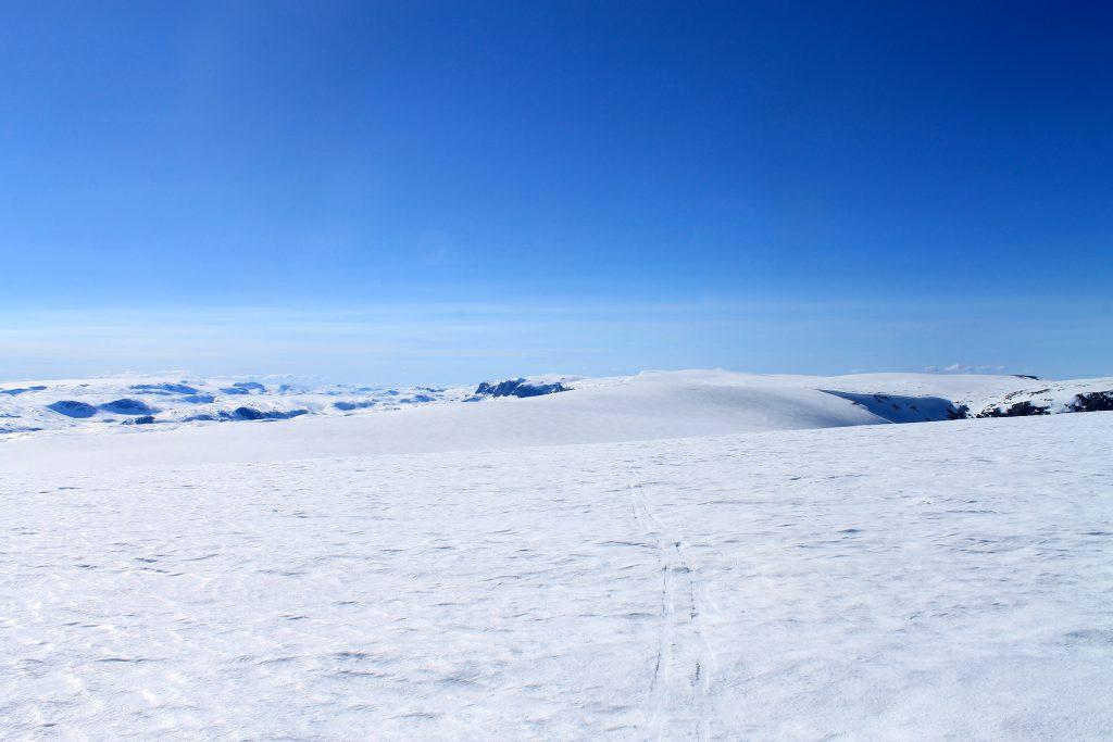 Ryggen av Hallingskarvet er en lang men flott skitur.