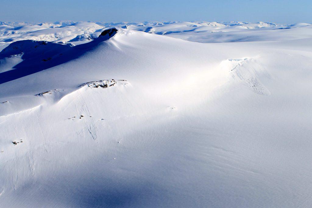 Brenibba på Jostedalsbreen sett fra Lodalskåpa.