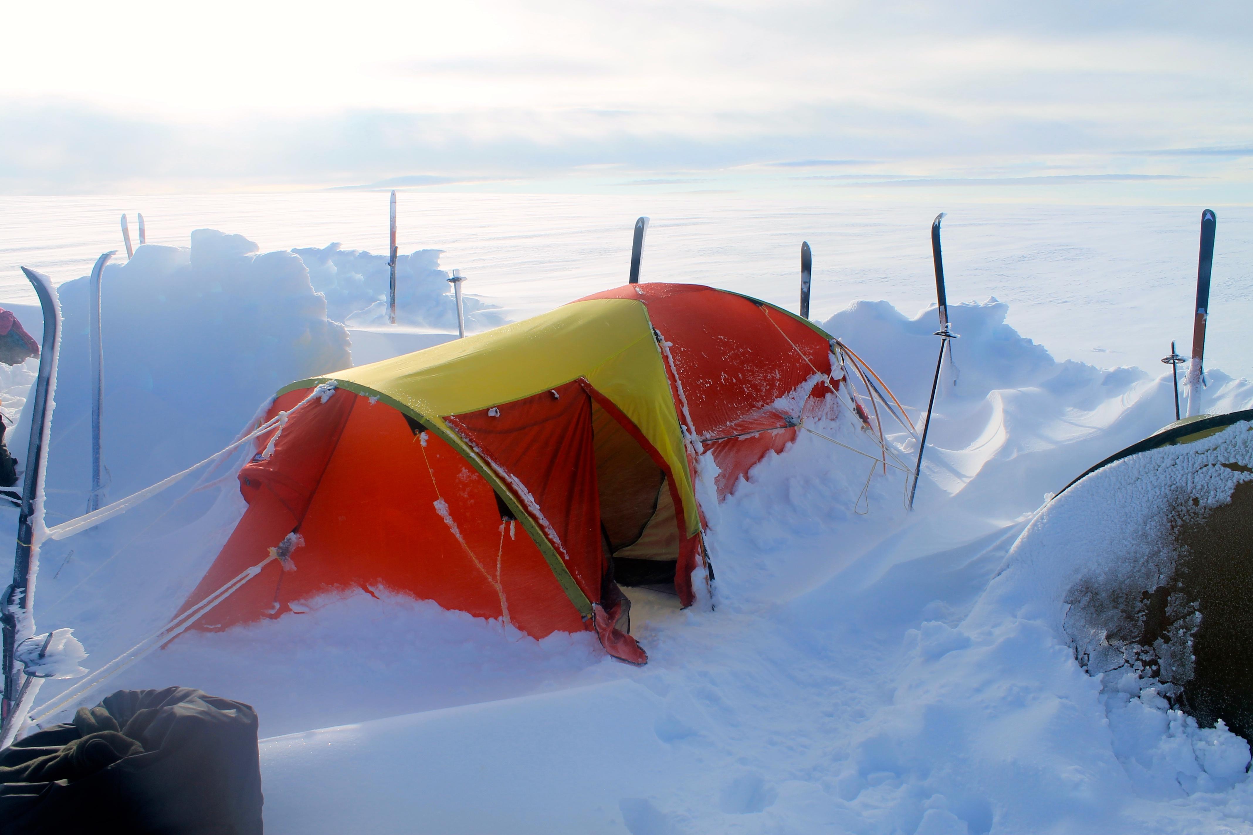 Det har klarnet opp etter en vindfull natt på 1.800 moh.