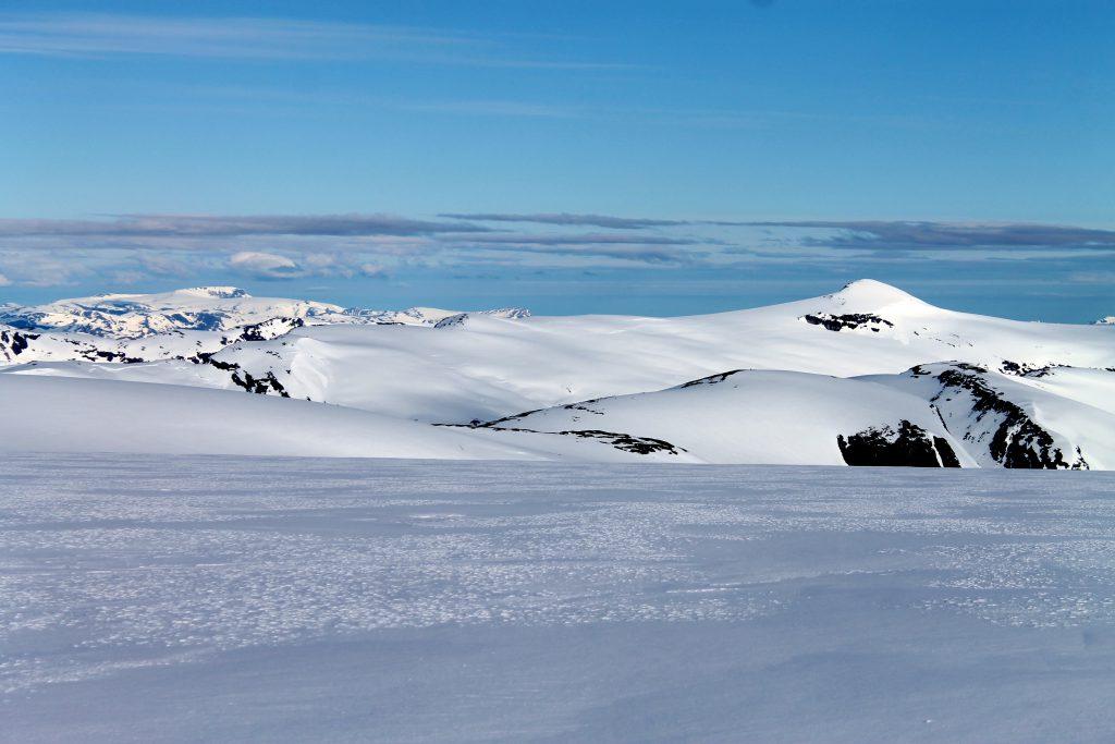 Utsikt mot Snønipa (1.827 moh).