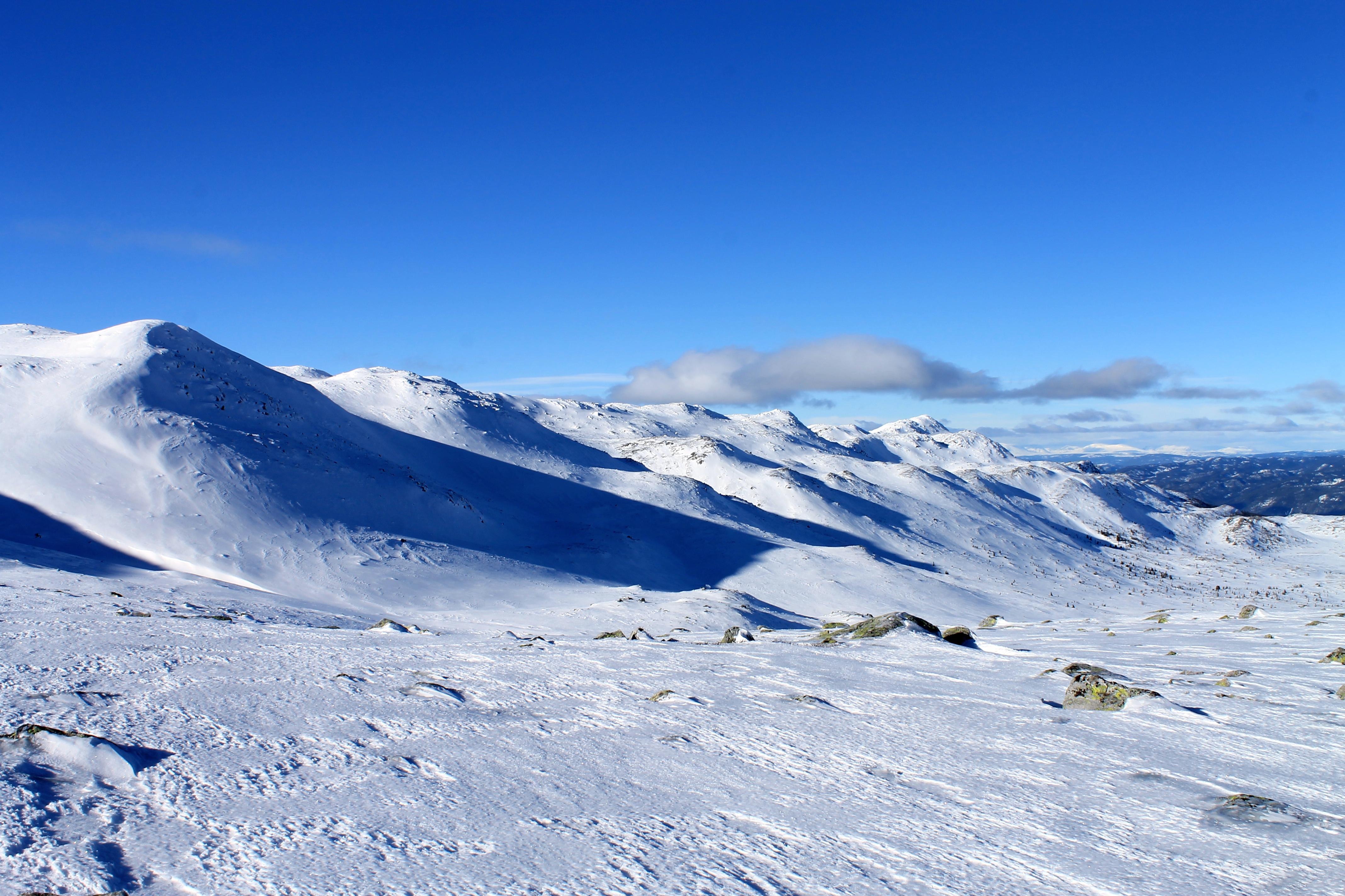 Norefjellsryggen er en fin skitur, med Gråfjell som det høyeste fjellet.