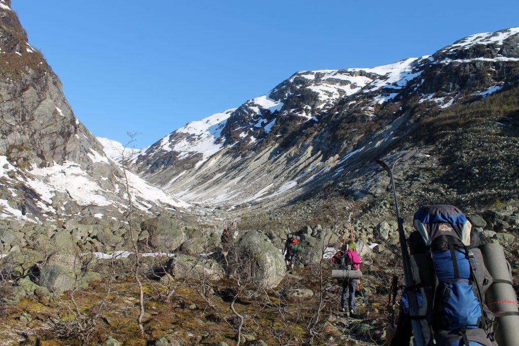 På vei inn til Fåbergstølsbreen