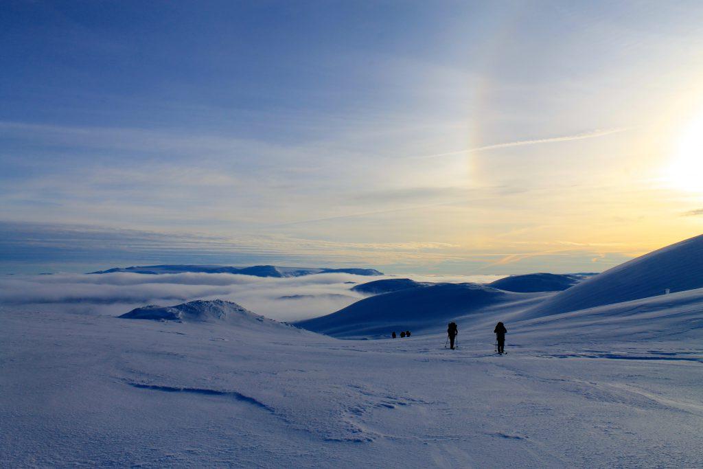 Fra Vossaskavlen med Hardangerjøkulen i bakgrunnen.
