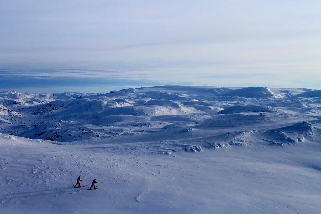 Baksafjellet har en utrolig utsikt. Her mot Hallingskeid og Hardangerjøkulen.