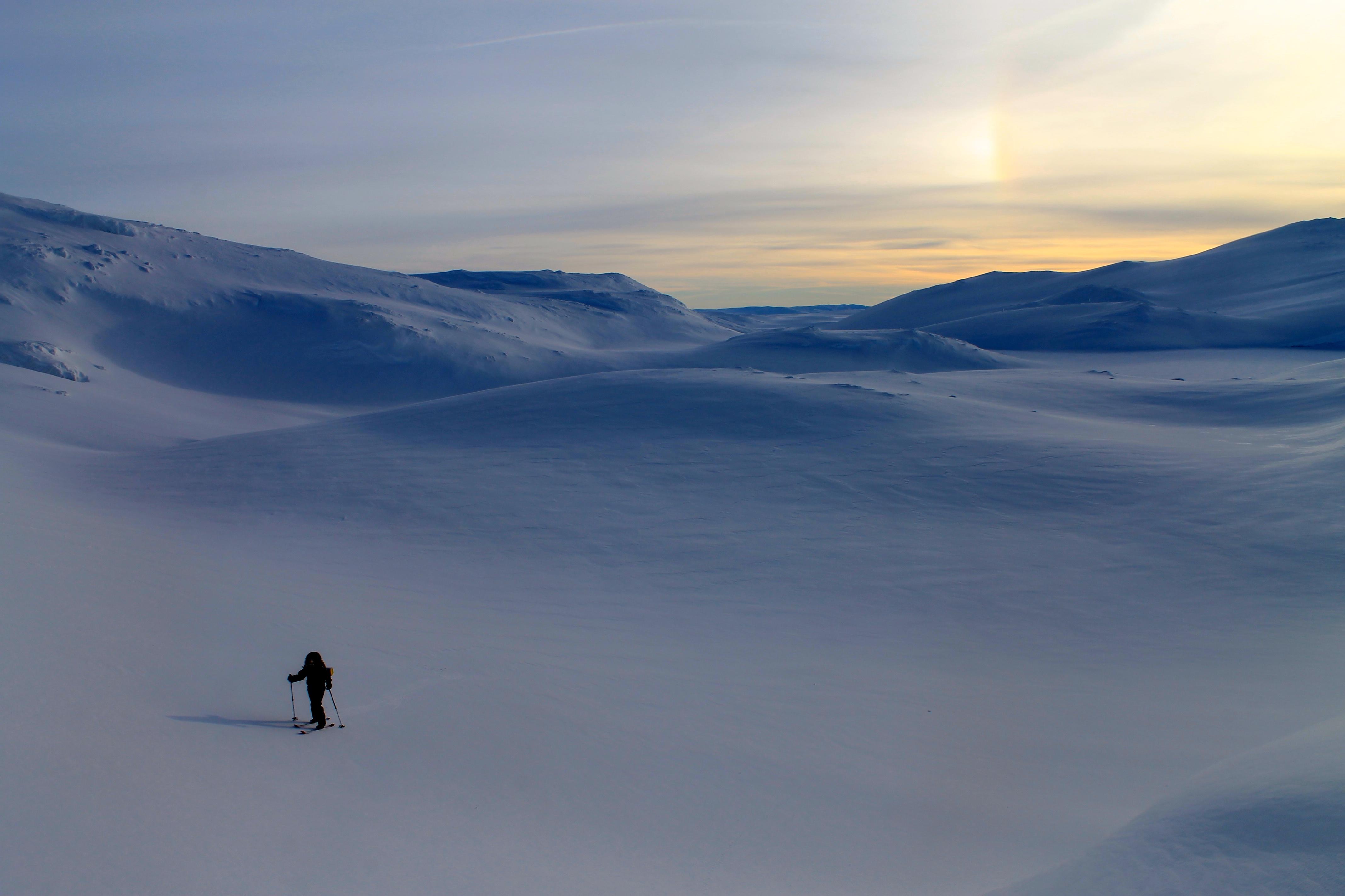 På skitur over Vossaskavlen.