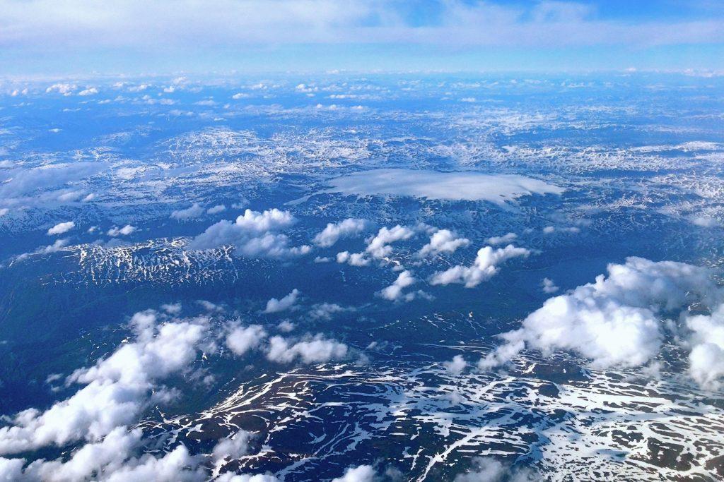 Hardangervidda vest sett mot nord og Hardangerjøkulen.