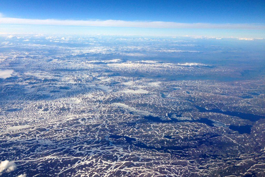 Hardangervidda øst med utsikt nordover mot Hallingskarvet.
