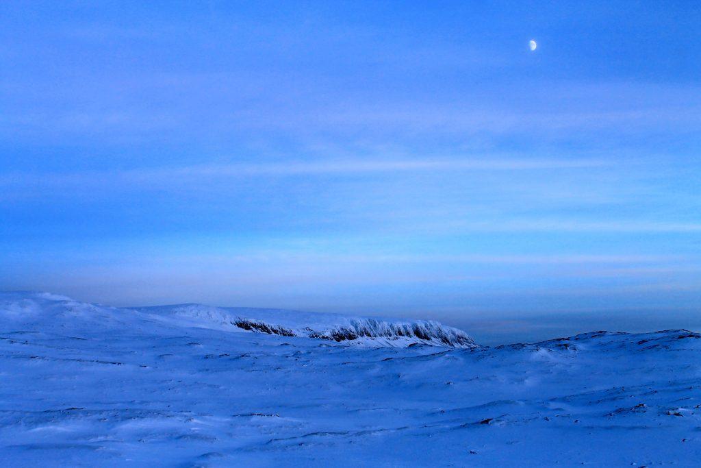 En vinterkveld ved Hallingskarvet.