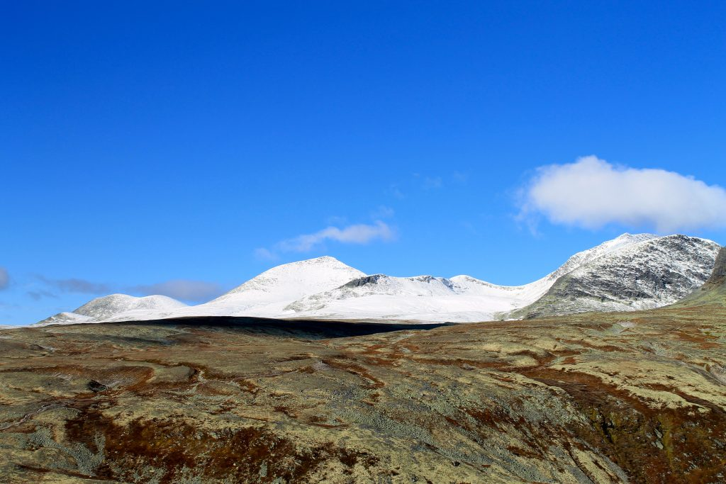 Høsten har mange fine farger og kontraster. Her fra Rondvassbu i Rondane.