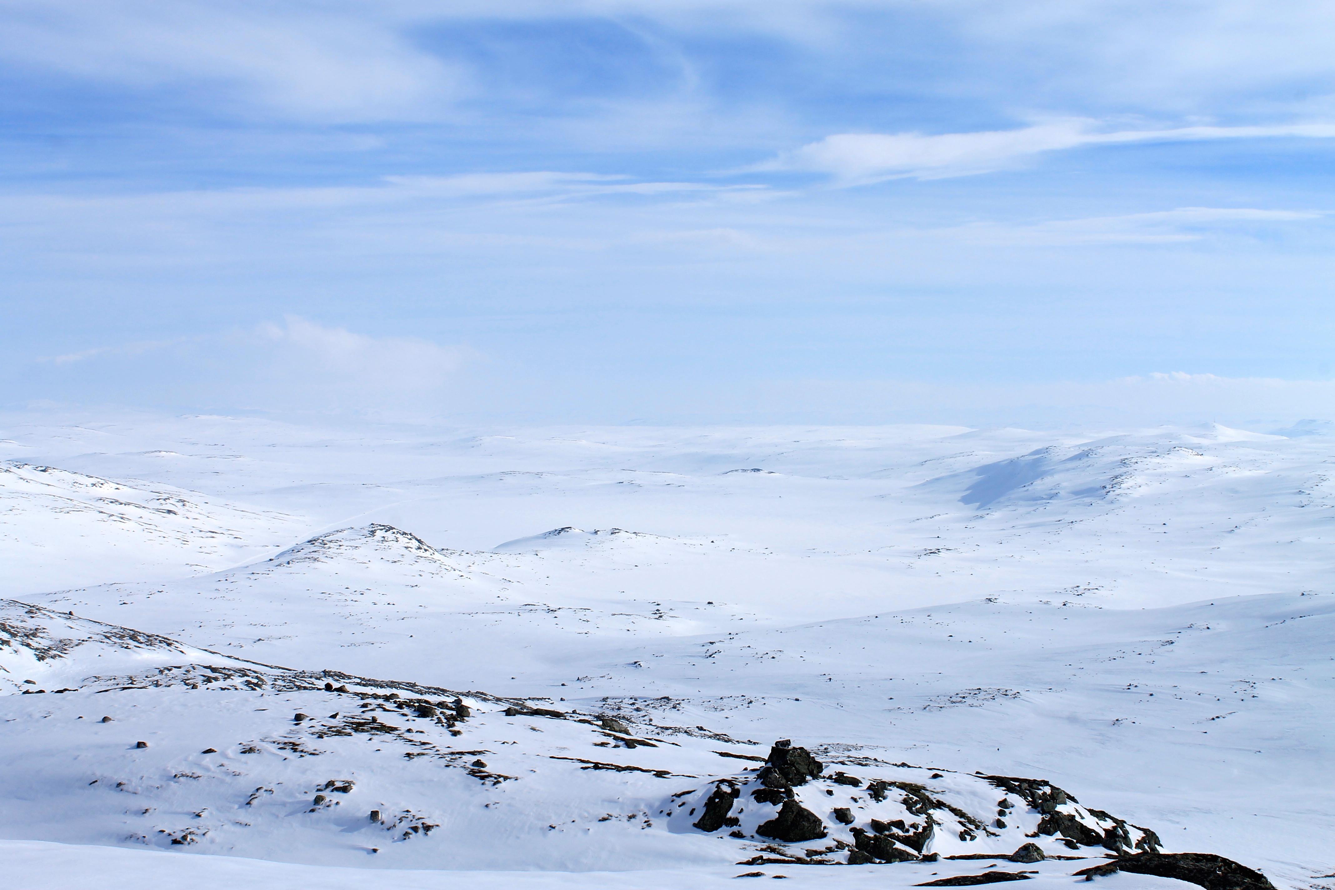 Utsikt mot Drageidfjorden og Krækkja på Hardangervidda fra Finnsberg (1.487 moh)