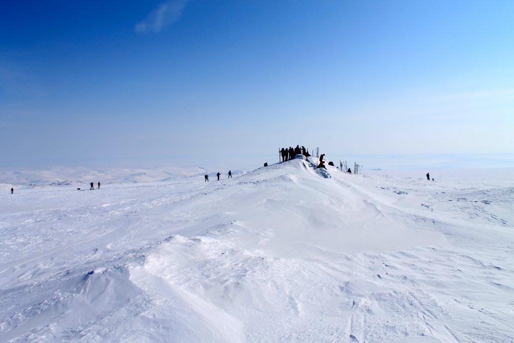 Toppen av Hardangerjøkulen (1.863 moh).