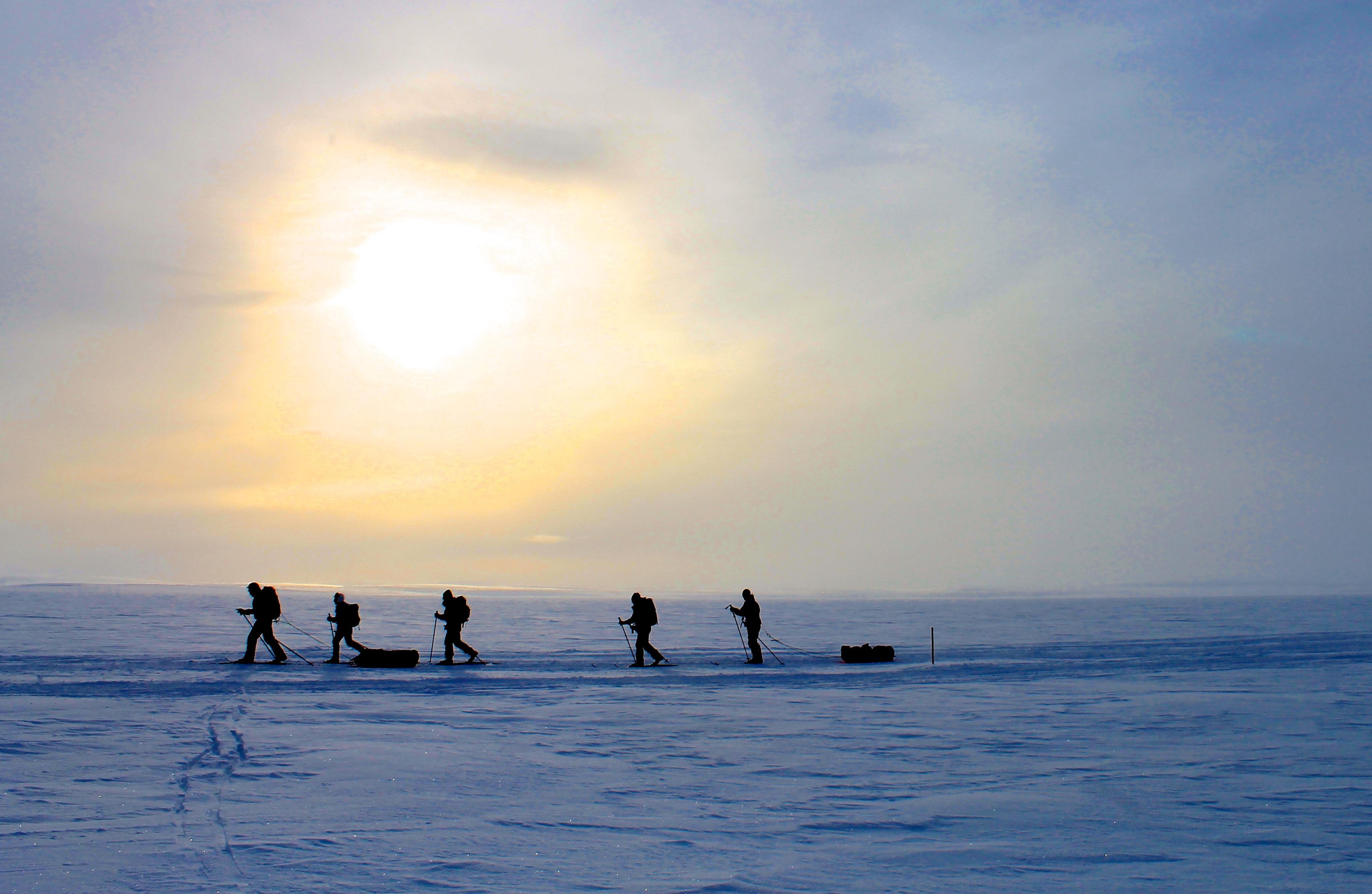 På ski over Finnmarksvidda fra Alta til Karasjok.