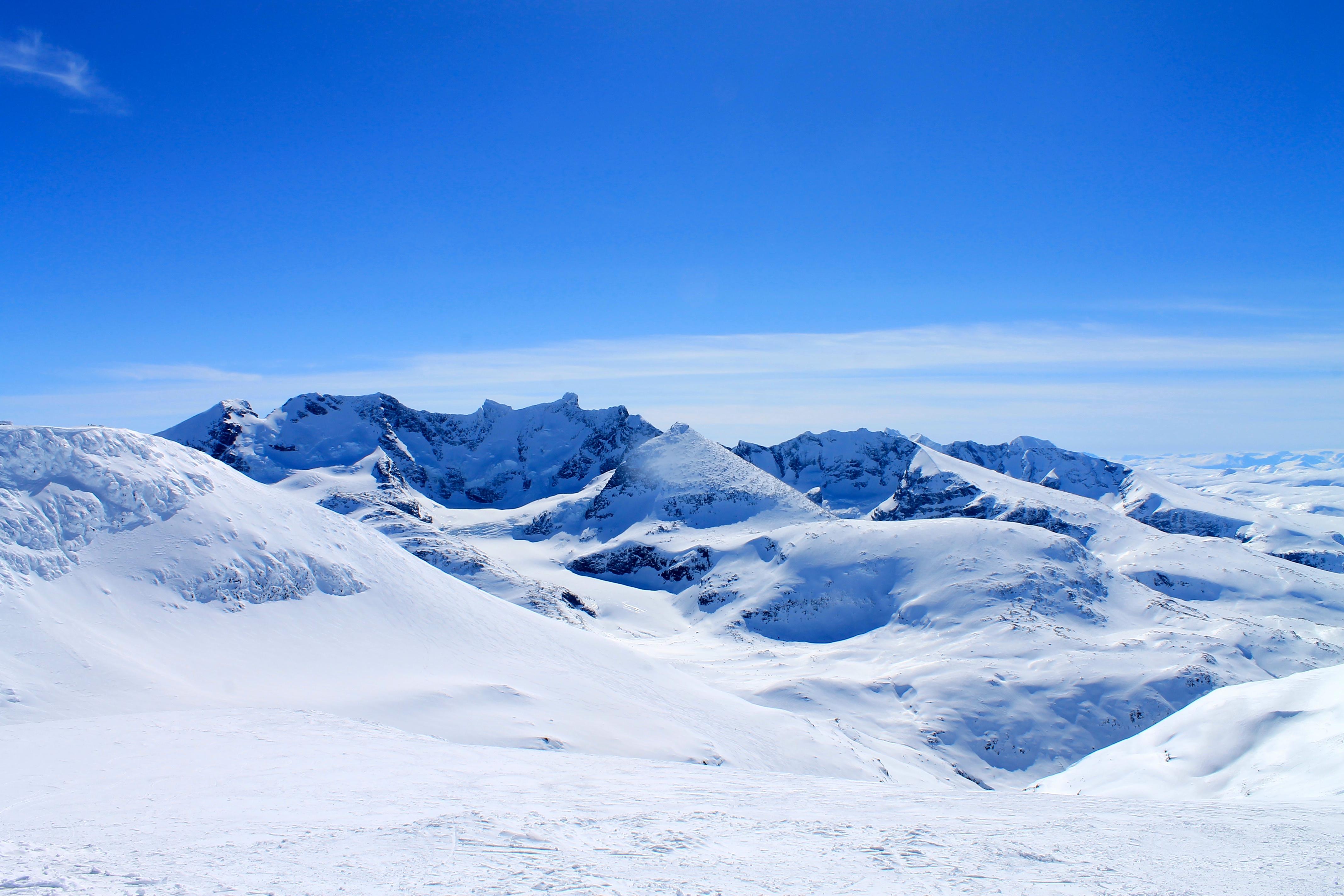 Utsikt mot Hurrungane fra Staindalsnosi (2.025 moh).