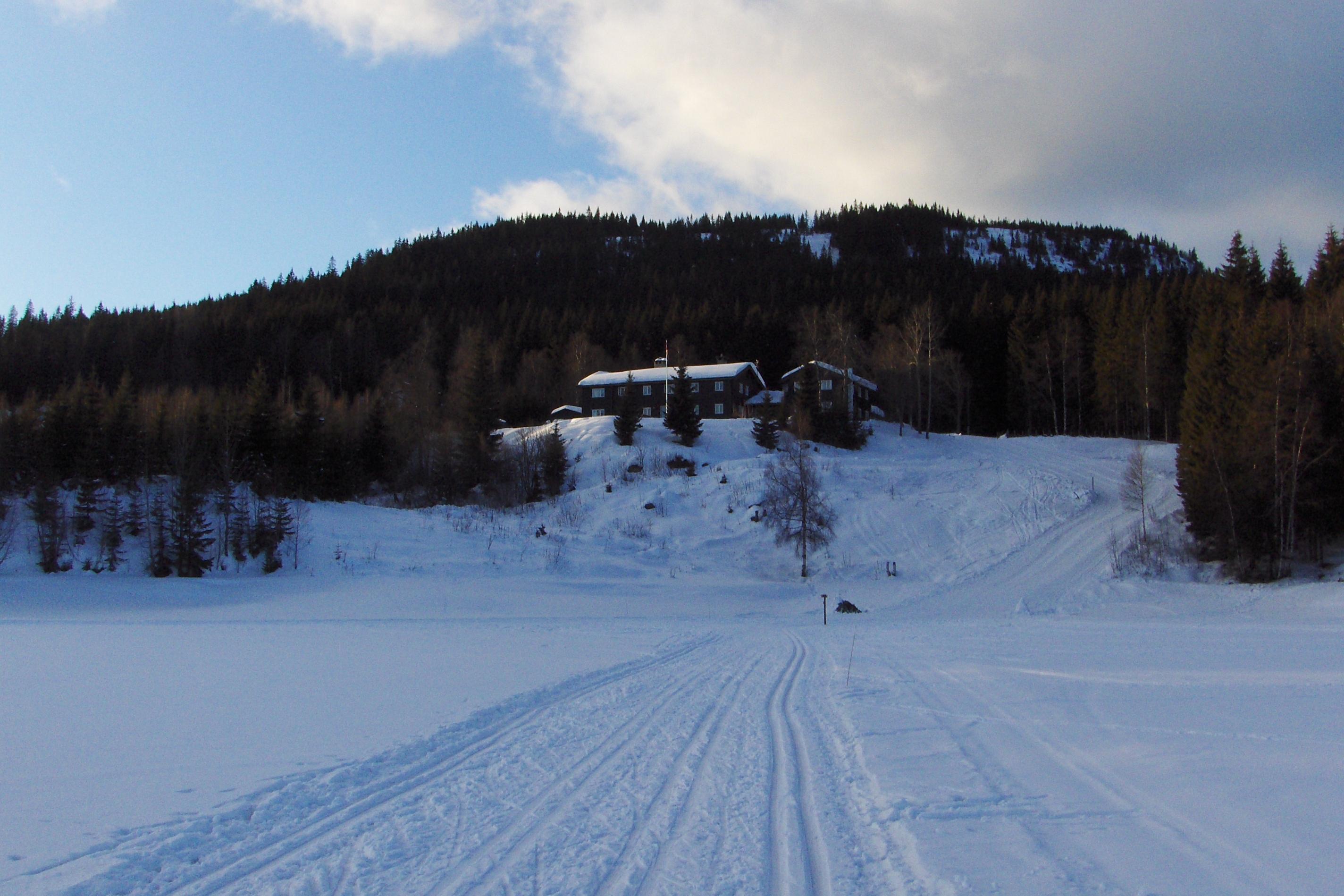Den betjente turisthytten Kikutstua i Nordmarka.