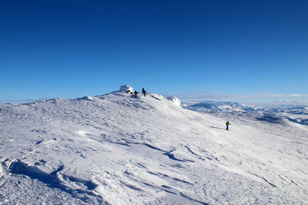 Toppen av Vassfjøra (1.633 moh).