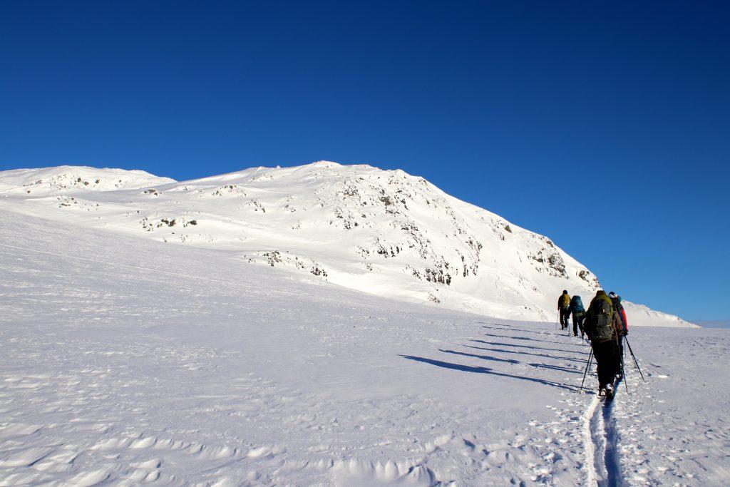 På vei opp mot Trollanuten (1.517 moh).