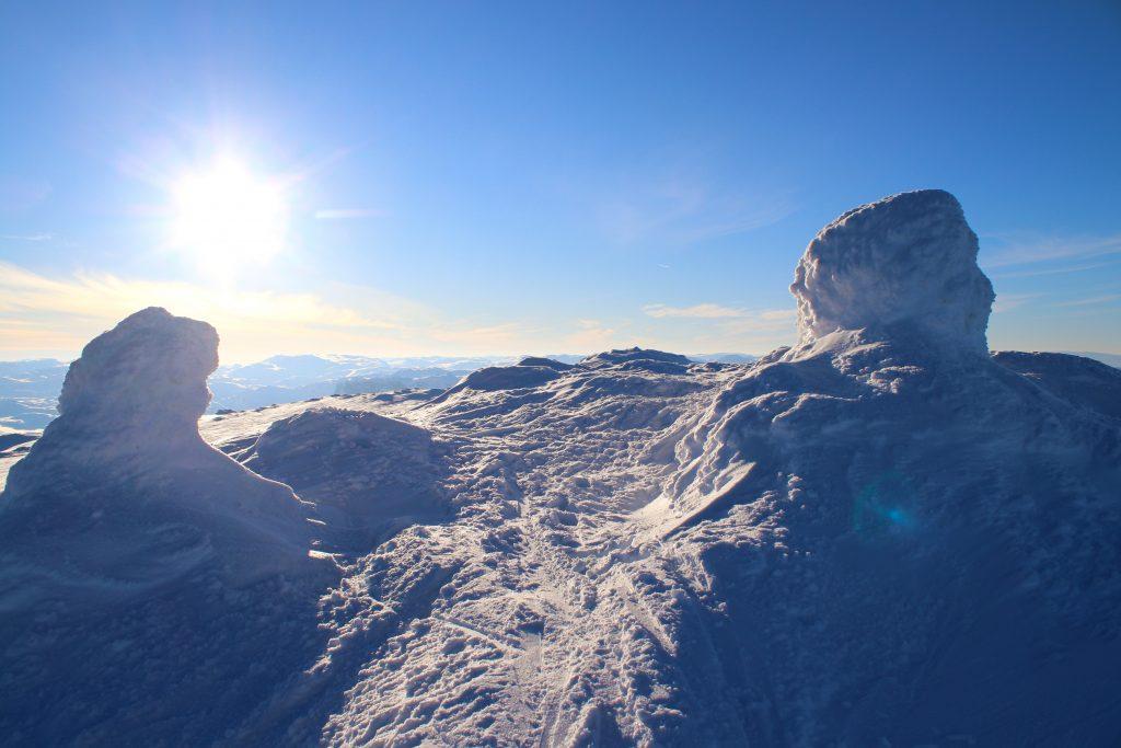 Toppen av Blåbergi (1.802 mot) i Skarvheimen.