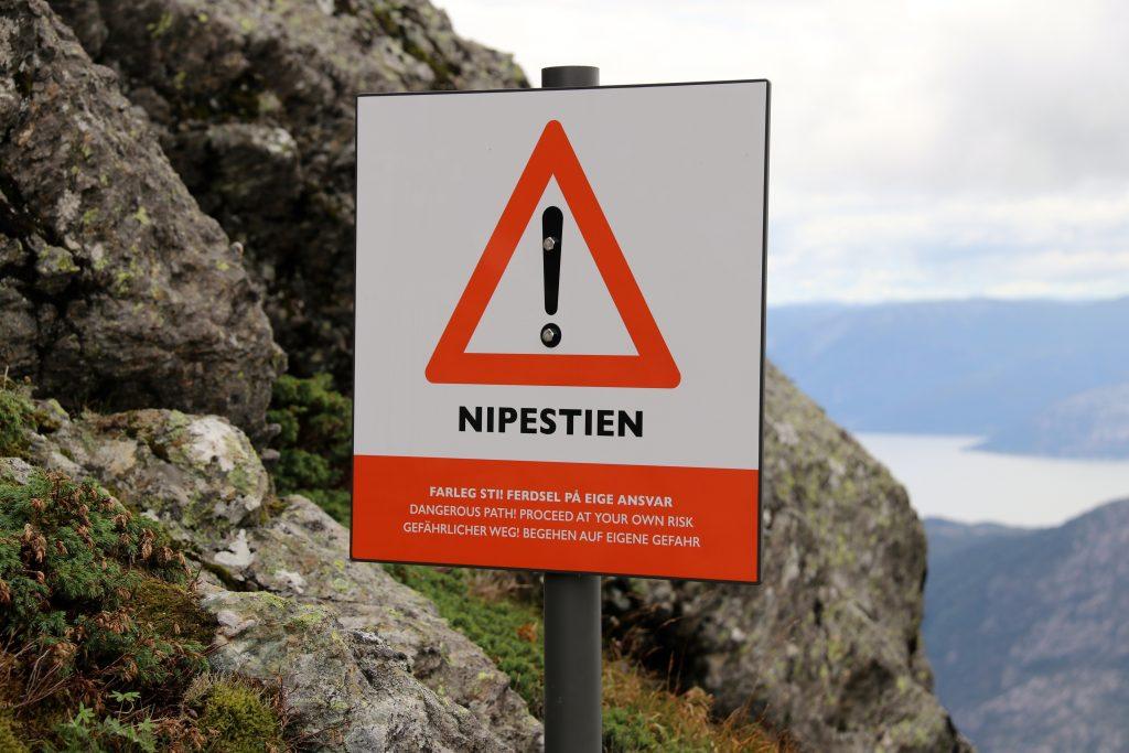 Nipestien er den raskeste veien opp til Gygrekjeften.