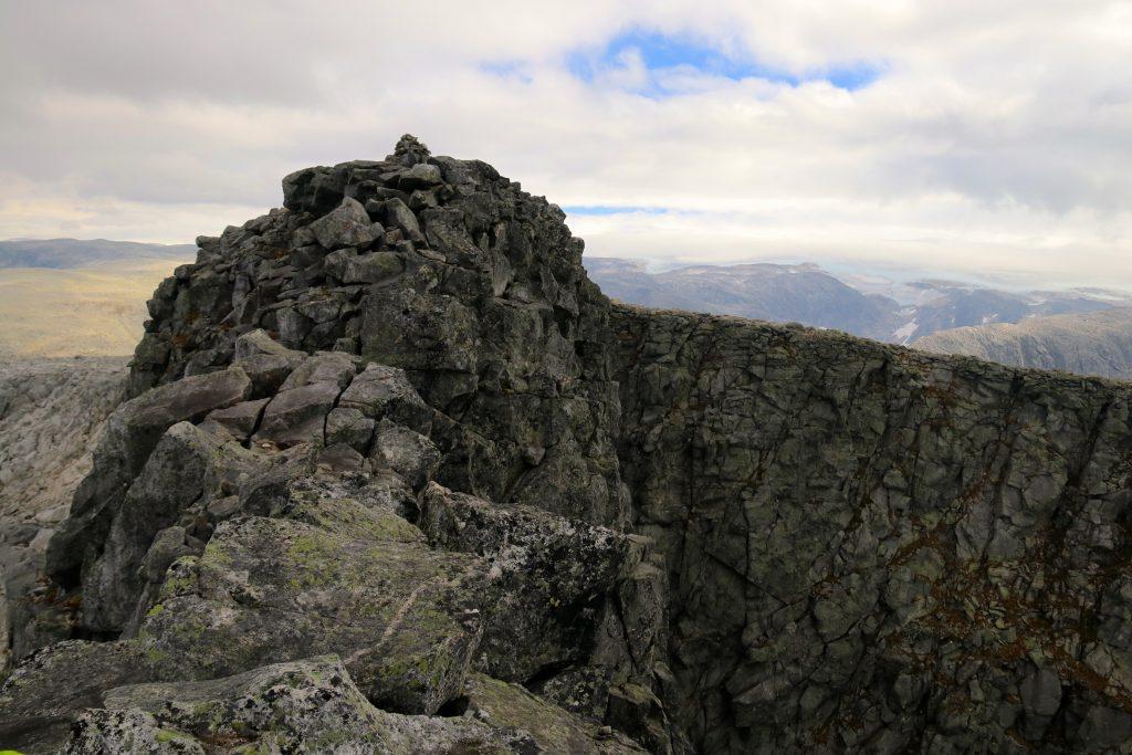 Det er et luftig toppunkt på toppen av Gygrastolen - også kalt Nibbo.