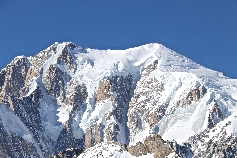 Mont Blanc (4.808 moh) sett fra øst.