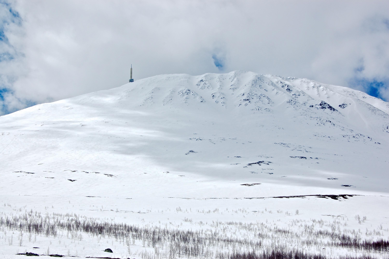 Gaustatoppen (1.883 moh) sett fra øst.