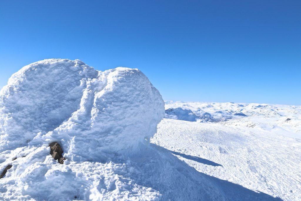 Toppvarden på Høgeloft (1.921 moh) på Filefjell.