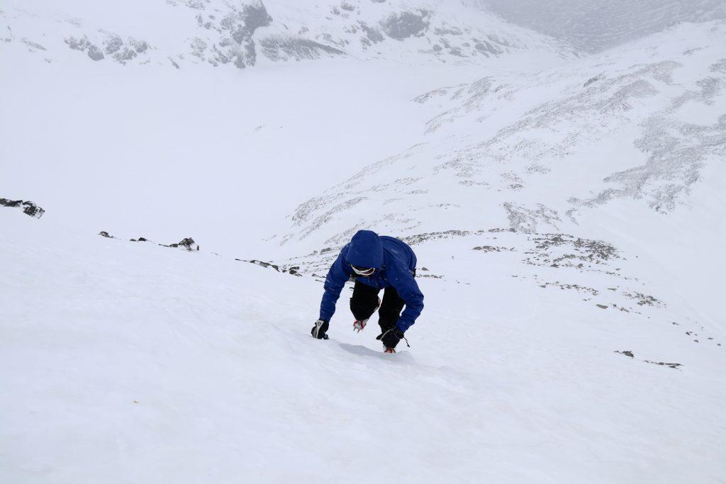 Nordryggen opp til toppen av Geite.