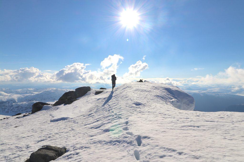 Toppen av Store Soleibotntinden (2.083 moh).
