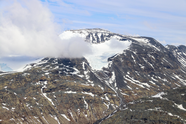 Bukkhøe (2.314 moh) sett fra Skagsnebb.