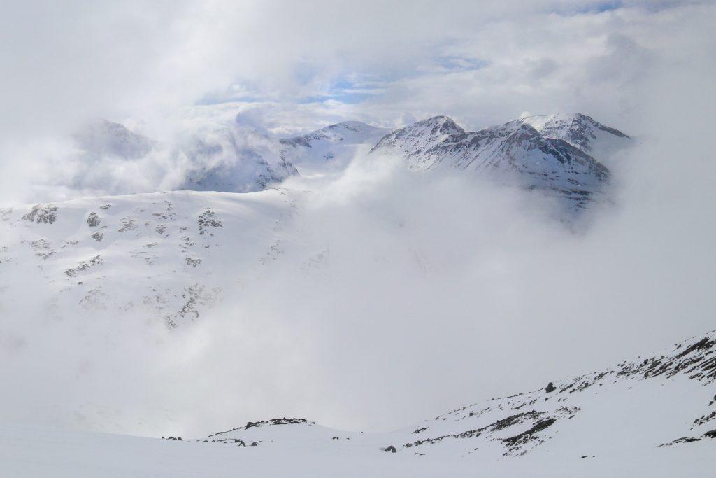 Skagsnebbtraversen sett fra Bukkhøe.