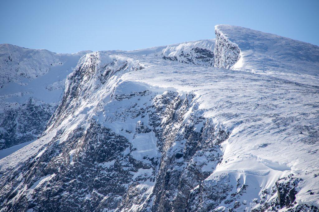 Vestre Glittertindoksle (2.247 moh).