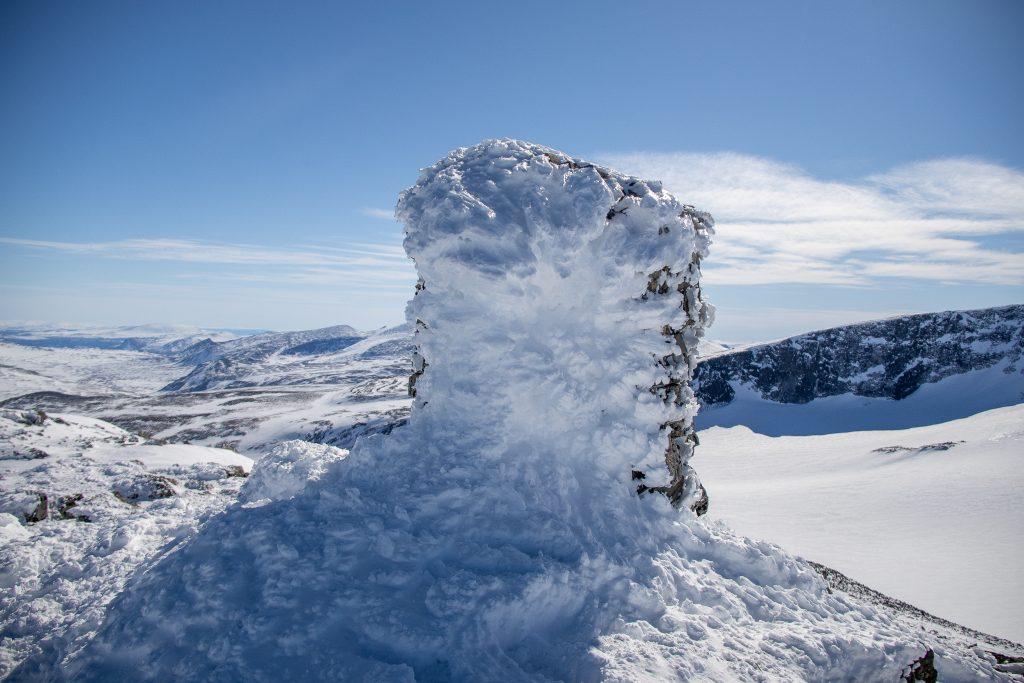 Toppvarden på Trollsteinrundhøe (2.170 moh).
