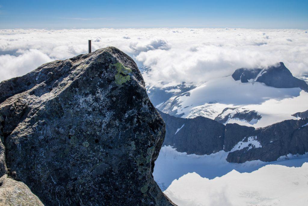Selve toppunktet på Store Skagastølstind.