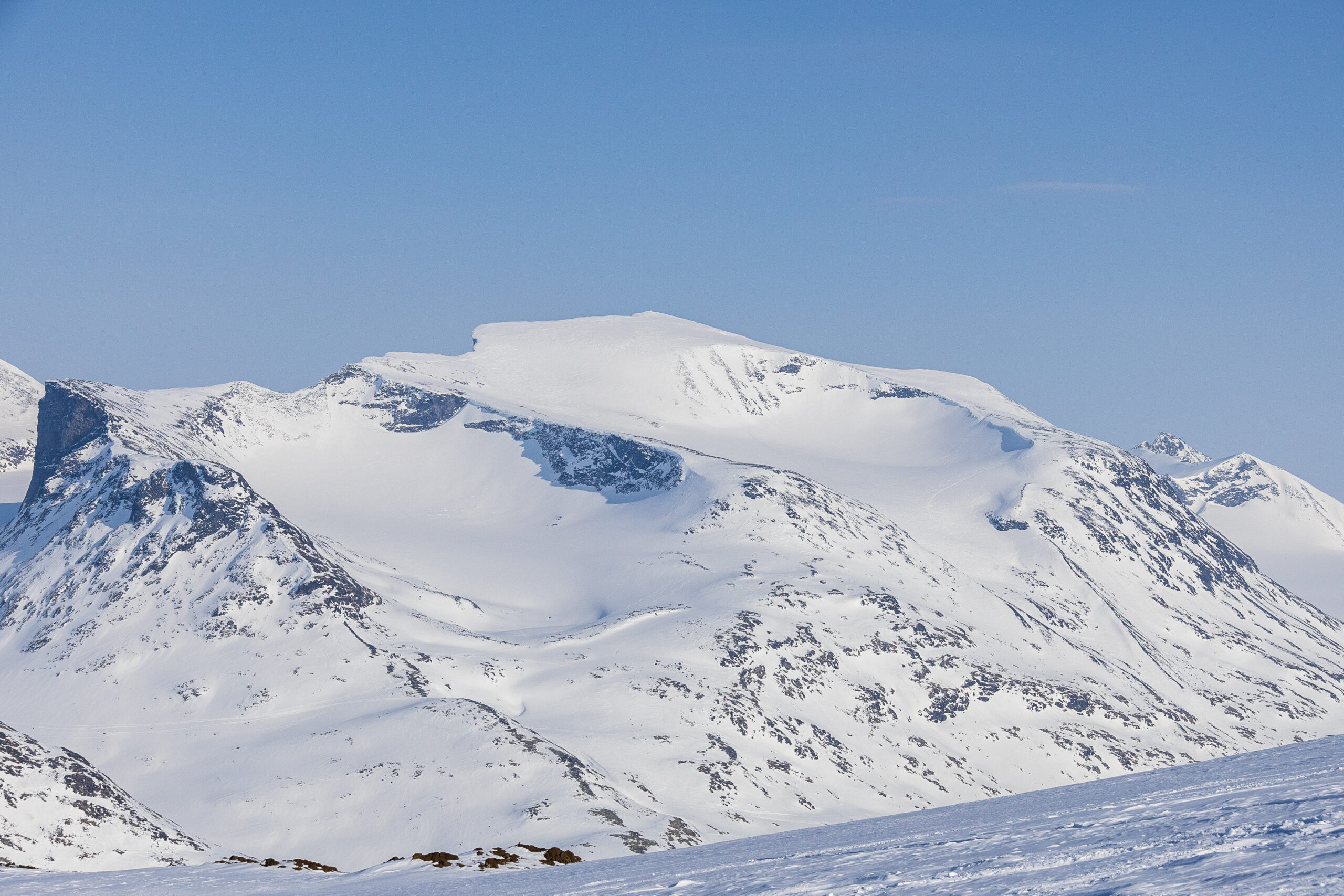 Bukkehøe-massivet sett fra Loftet.