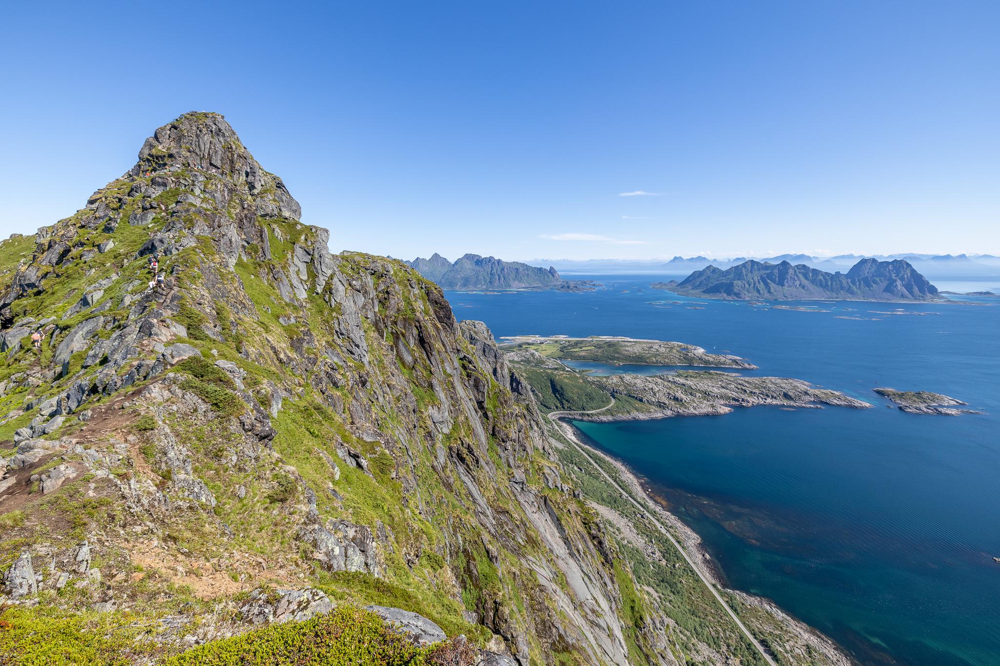 Toppen av Fløya sett fra sørvestryggen.