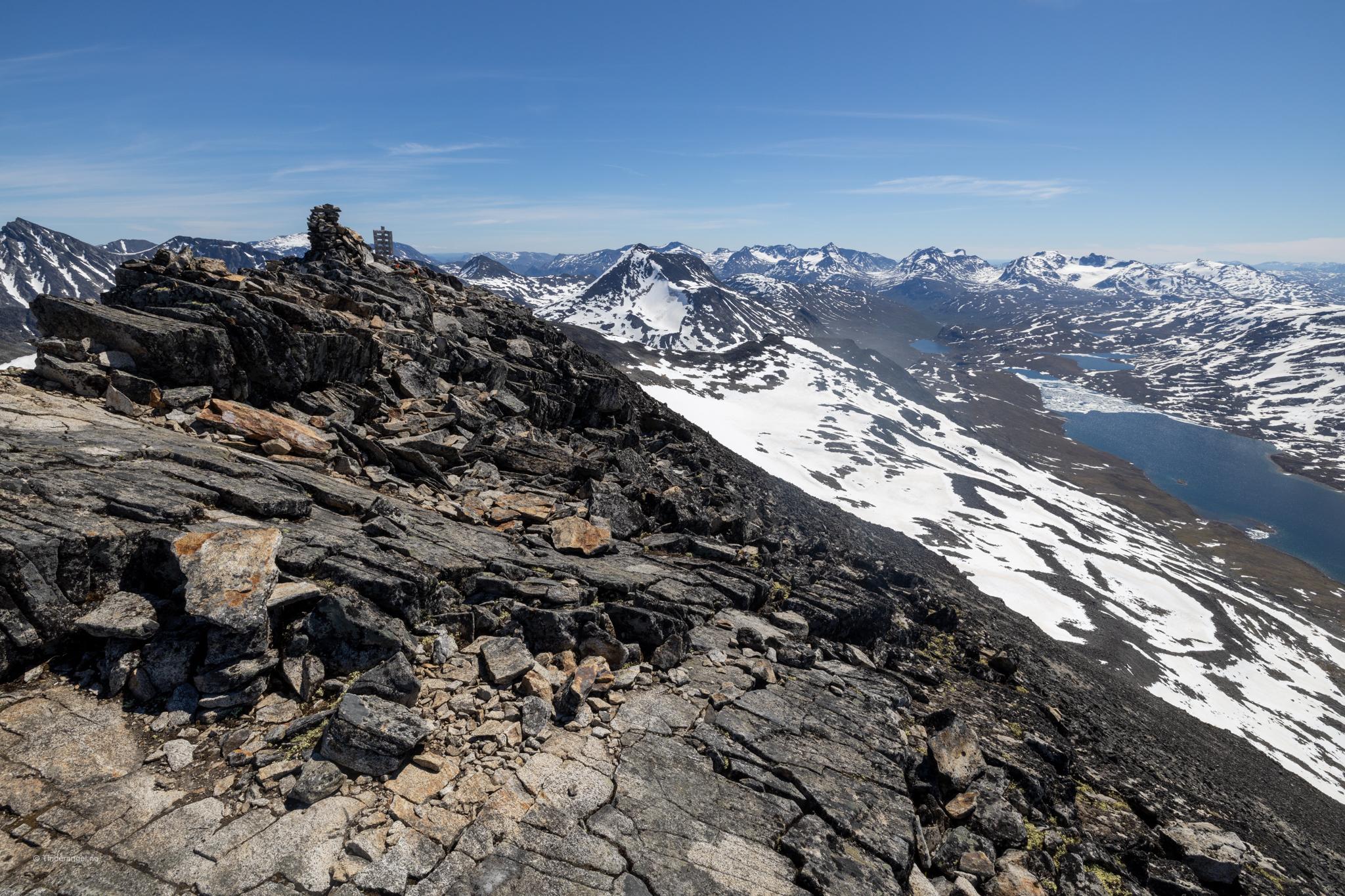 Visbretinden midt i Jotunheimen.
