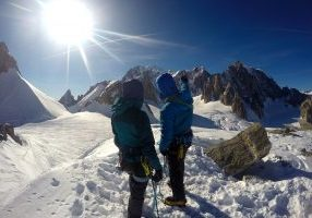 Betrakter Mont Blanc (4.808 moh) fra Petit Flambeau (3.440 moh).