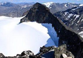 Tverråtindan i Galdhøpiggmasivet i Jotunheimen.