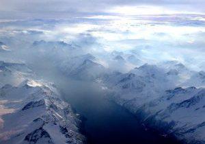 Sunnmørsalpene med Hjørundfjorden og Sylvkallen midt i bildet.