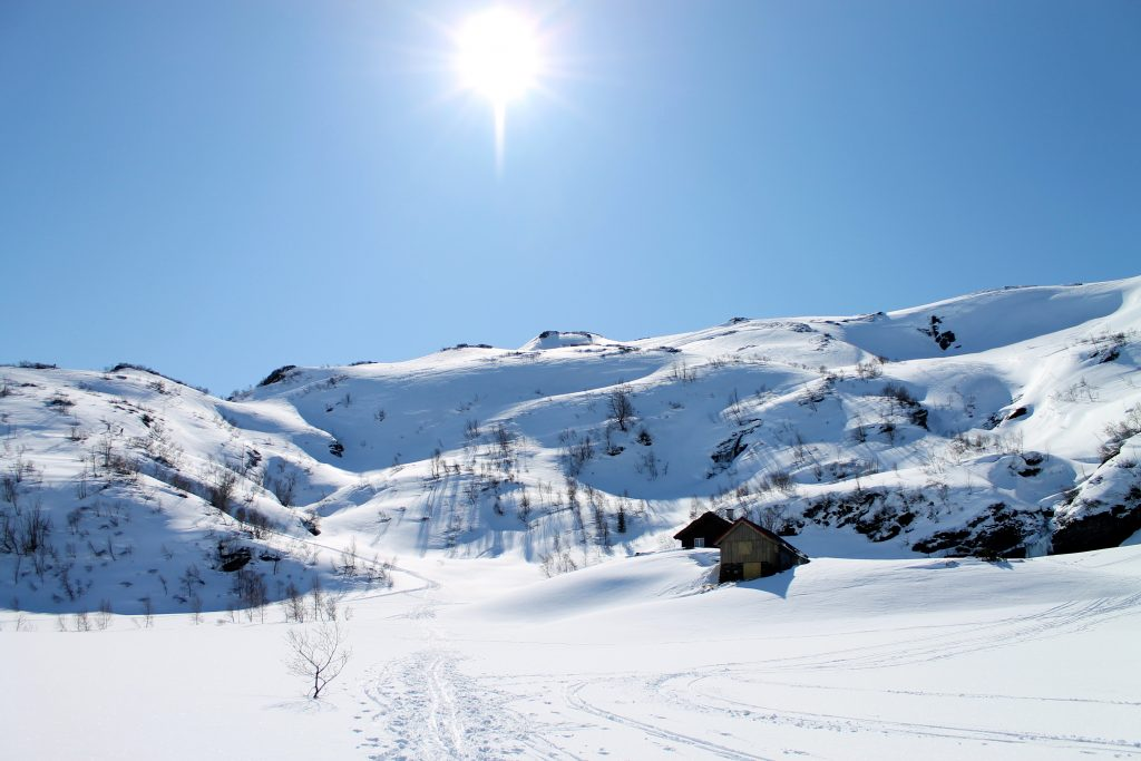 Det fineste alternativet er å gå opp Fossdalshorga til Tveitakvitingen via Høganova (1101 moh).