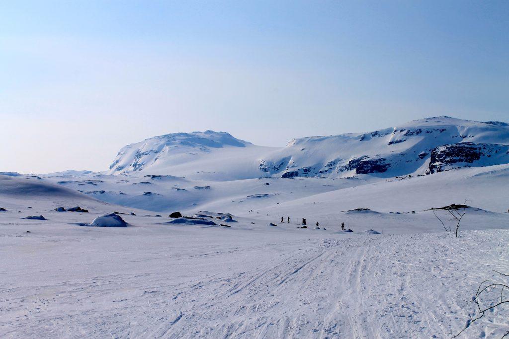 På vei mot Hardangerjøkulen fra Finse.