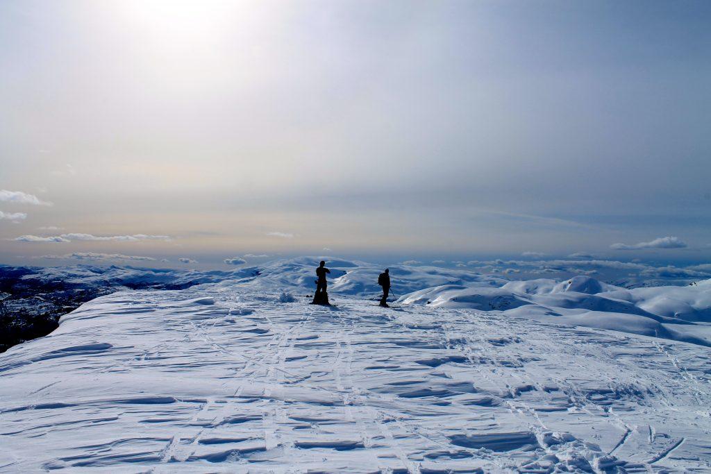 På toppen av Torefjell (1.050 moh) i Hardanger.